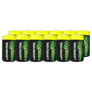 Go Green Alkaline D Battery (12 Pack)