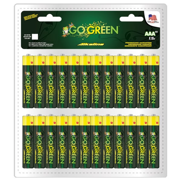 Go Green Alkaline AAA Battery (48 Pack)