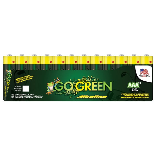 Go Green Alkaline AAA Battery (24 Pack)