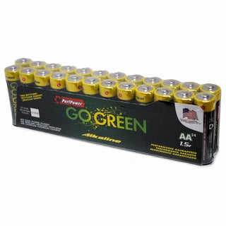 Go Green Alkaline Battery AA 24-pack