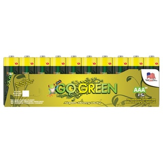 Go Green Heavy Duty AAA Battery (20 Pack)