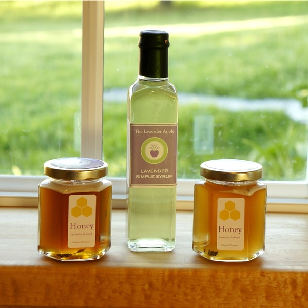 The Lavender Apple Gourmet Lavender Simple Syrup and Lavender Honey