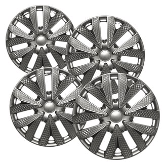 WCA 1034 15GM Design Hub Cap ABS Gun Metal Pattern 15-inch (Set of 4)