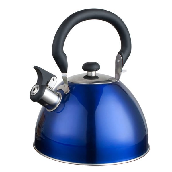 Alpine cuisine 2 6 quart blue tea kettle 16318371 for Alpine cuisine tea kettle