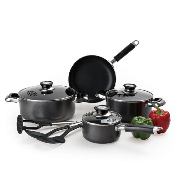 Alpine Cusine 7-piece Grey Aluminum Cookware Set