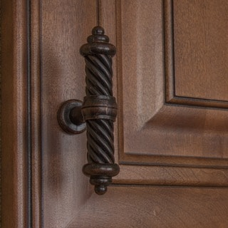 GlideRite 3.5-inch Rustic Bronze Twisted Cabinet Drawer Knob Pulls (Pack of 10)