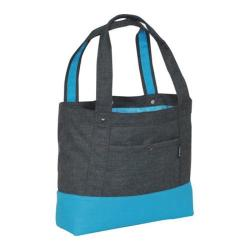Everest Stylish Tablet Tote Bag Charcoal/Blue