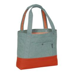 Everest Stylish Tablet Tote Bag Jade/Rust Orange