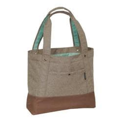 Everest Stylish Tablet Tote Bag Tan/Dark Brown