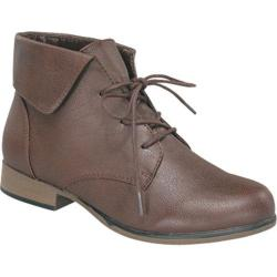 Women's Wild Diva Chapter-27 Brown Faux Leather