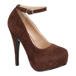 Women's Wild Diva Elegant-86 Brown Faux Suede