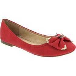 Women's Wild Diva Chanel-2 Red Faux Leather