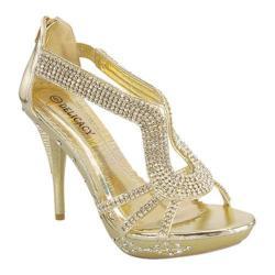 Women's Wild Diva Delicacy-06 Gold Faux Leather