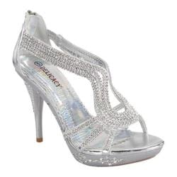 Women's Wild Diva Delicacy-06 Silver Faux Leather