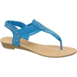 Women's Wild Diva Harris-2 Light Blue Faux Leather