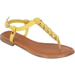 Women's Wild Diva Gail-06 Yellow Faux Leather