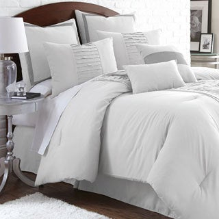 Marilyn Embellished Off-white 8-piece Comforter Set