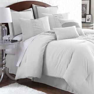Marilyn Embellished Off-white 8-piece Comforter Set