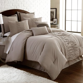 Marilyn Embellished Linen 8-piece Comforter Set