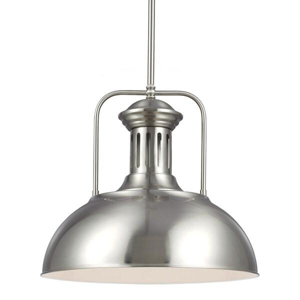 Beacon Street Brushed Nickel One Light Pendant