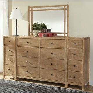 New Haven 8-drawer Dresser with optional Mirror and Piers