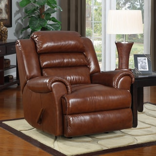 At Home Designs Sedona Contemporary Caramel Recliner