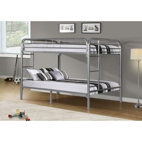 Silver Metal Full/ Full Bunk Bed