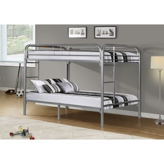 Silver Metal Full/ Full Bunk Bed