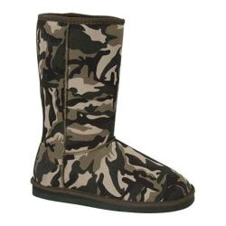Women's Wild Diva Aling-8 Camouflage Faux Suede