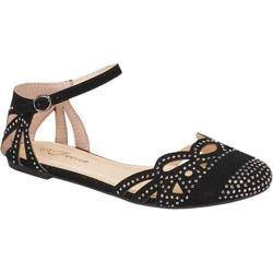 Women's Wild Diva Bella-03 Black Faux Suede
