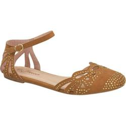 Women's Wild Diva Bella-03 Tan Faux Suede