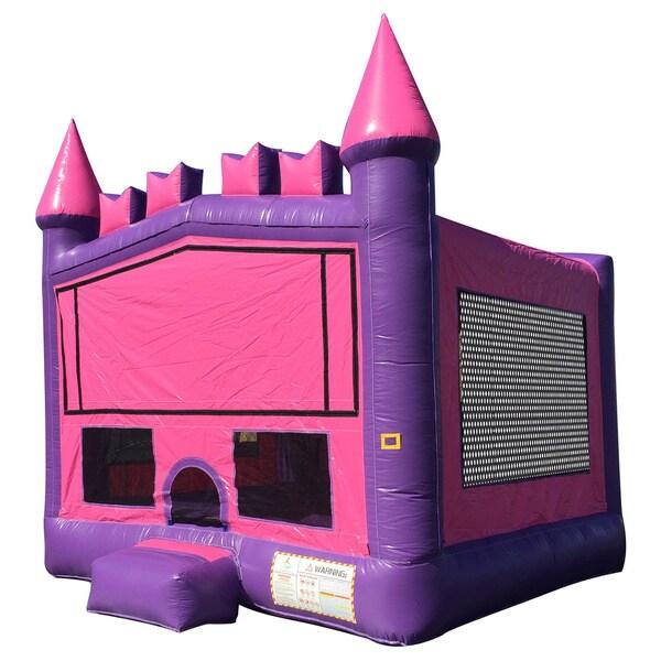 JumpOrange 15-foot Princess Brick Inflatable Bouncy Castle