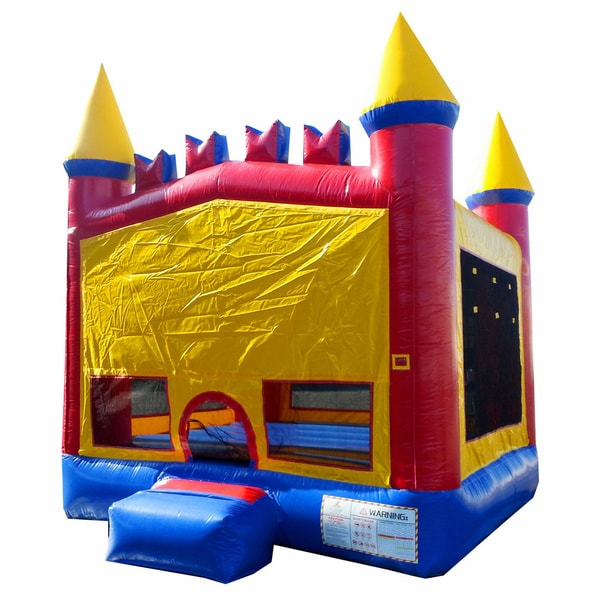 JumpOrange 13-foot Rainbow Inflatable Bouncy Castle
