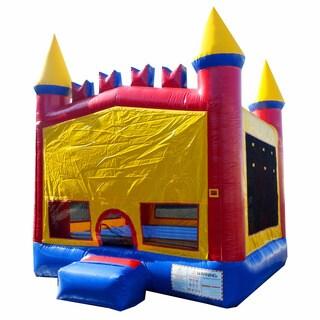 JumpOrange 13-foot Rainbow Inflatable Bouncy Castle