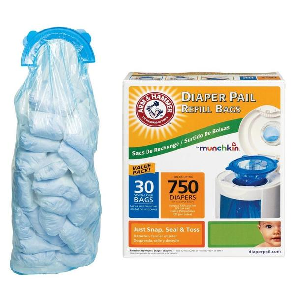 Munchkin Arm & Hammer Diaper Pail Bag Refill (Pack of 30)