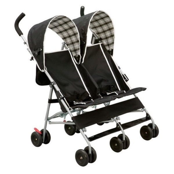 Delta Dx Side By Side Stroller In Black Plaid 16321894