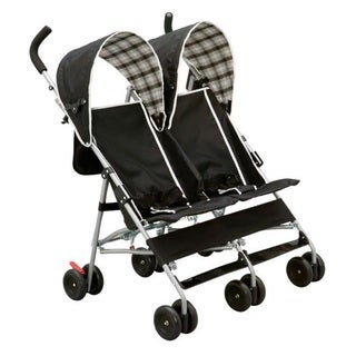 Delta DX Side by Side Stroller in Black Plaid