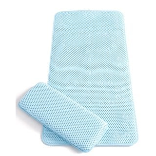 Clevamama Clevabath Extra Long Bath Mat and Kneeler in Blue