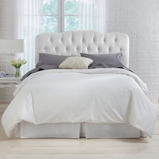 Skyline Furniture Tufted Headboard in Velvet White