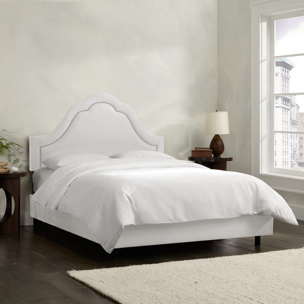 Made to Order High Arch White Bed with Nails