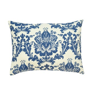 Dalilah Blue Damask King-size Pillow Sham