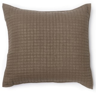 Karina Walnut Brown Diamond Quilted Euro Sham