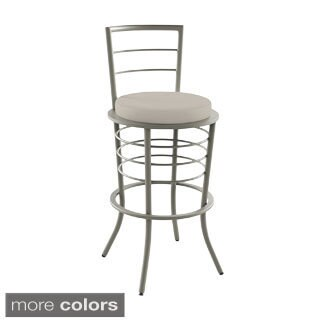 "Amisco Broadway 26"" Metal Stool with Backrest"