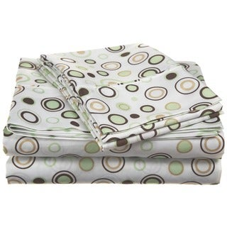 Simple Elegance Spring Circles Microfiber Sheet Set