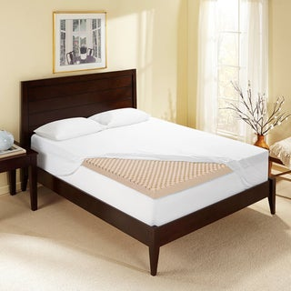 Bodipedic 3-inch Sculpted Memory Foam Mattress Topper with Cover