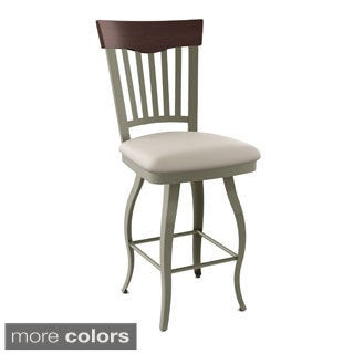"Amisco Lighthouse 26"" Swivel Metal Stool"
