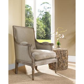 Carolina Beach Sand Linen Traditional Lounge Chair