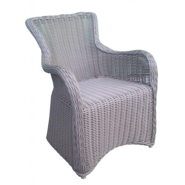 Krista Grey Outdoor Arm Chair