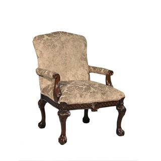 Diego Traditional Beige Floral Occasional Chair
