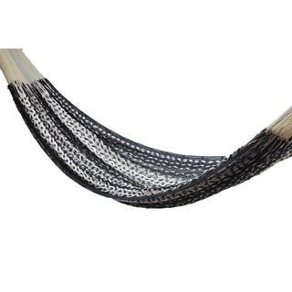 Savannah Black and Ecru Thick Cord L Mayan Hammock
